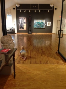 Art Lover Silas explores the Towbin Wing at WAAM