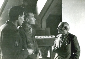 Bromberg on left with Picasso