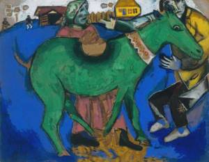 Marc Chagall The Green Donkey 1911