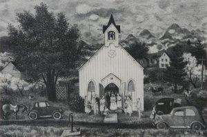 Doris Lee Country Wedding c1950
