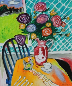 Stacie Flint Table with Roses