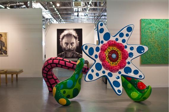 Yayoi Kusama at Victoria Miro. Courtesy The Armory Show.
