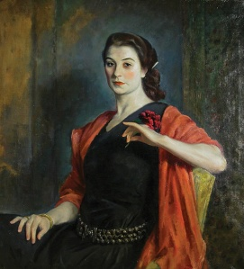 PORTRAIT OF A FRENCH GIRL (Jeanne Balzac, ca. 1924) by Eugene Speicher. Oil. WAAM Permanent Collection, Gift of Dr. F.G. Jarman.