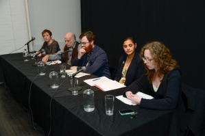 The Studio in Crisis panelists at Cabinet