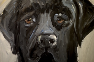 One of Ellie's wonderful animal paintings from her show at the Doghouse Gallery in 2008