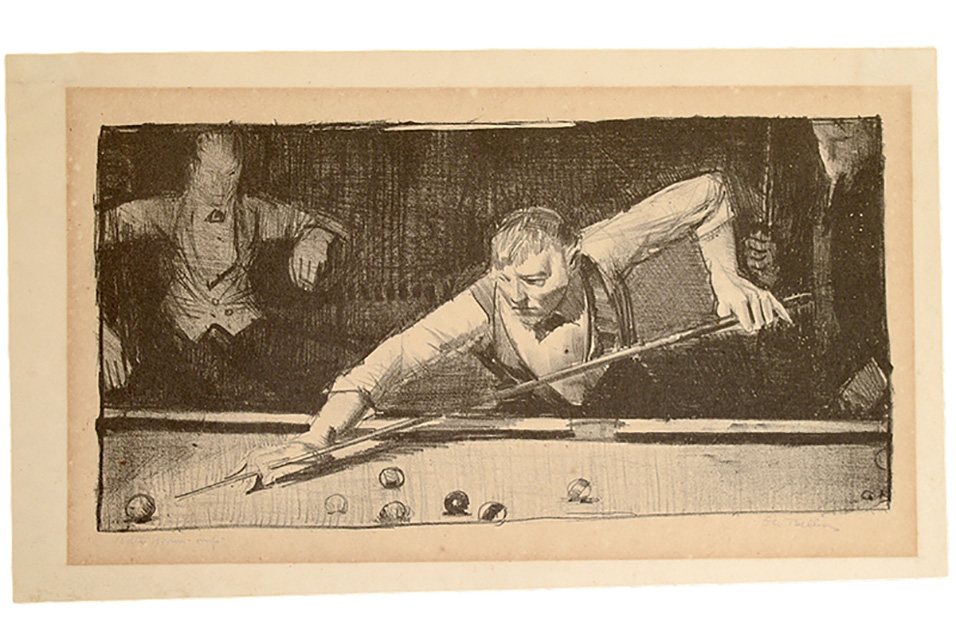 george-wesley-bellows-pool-player-lithograph-circa-1921.jpg (956×640)