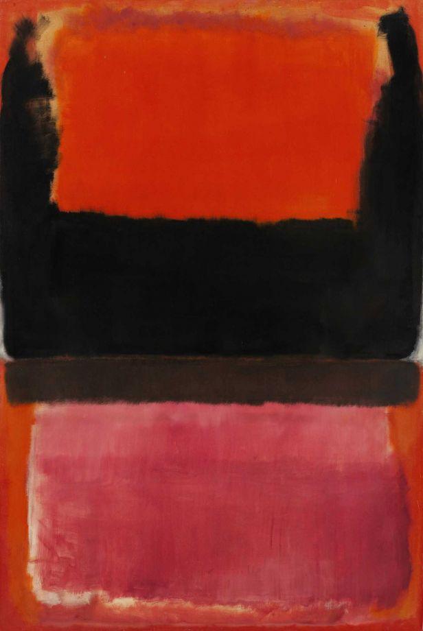 Mark Rothko Red, black, brown, orange