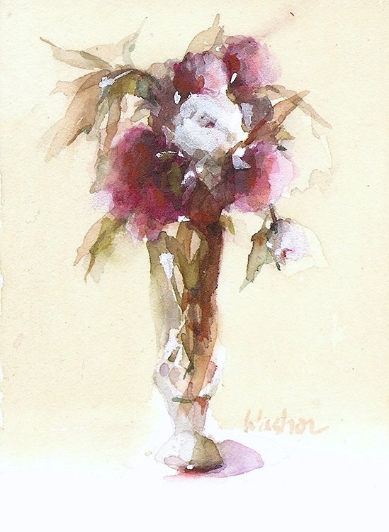 Wedding Bouquet Joyce Washor watercolor. jpg