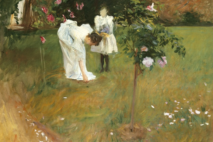 John Singer Sargent, Garden Study with Lucia and Kate Millet