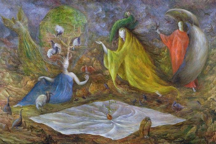 Leonora Carrington, The Pomps of the Subsoil 1947.