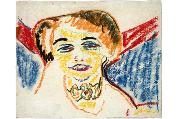 Head of a Woman by Ernst Ludwig Kirchner.
