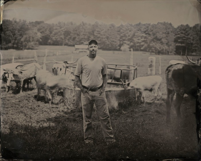 Matt with Cattle