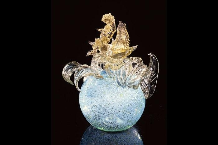 Gilded Mystic Blue Putti Ventian