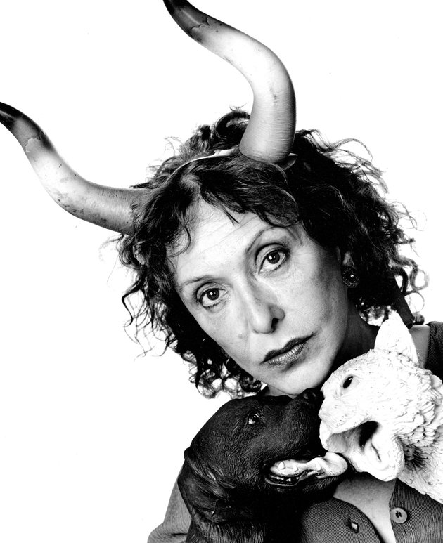 Artist Carolee Schneemann, 1995. Photo by Jack Mitchell/Getty Images.